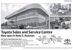 Toyota new 3S centre in Kuantan